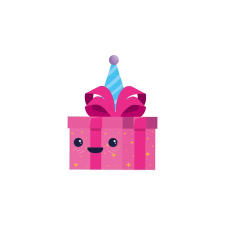 Gift cartoon with bowtie design, happy birthday celebration decoration party festive and surprise theme Vector illustration 版權商用圖片 - 134881444