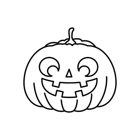 halloween pumpkin traditional isolated icon vector illustration design Zdjęcie Seryjne - 134902720