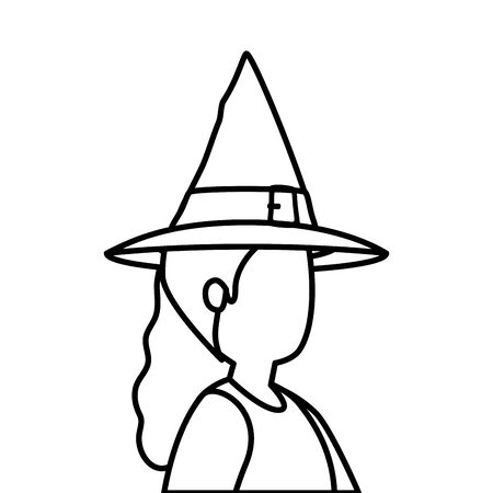 young woman disguised witch isolated icon vector illustration design Zdjęcie Seryjne - 134902726