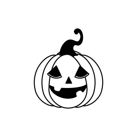 halloween pumpkin traditional isolated icon vector illustration design Zdjęcie Seryjne - 134902727