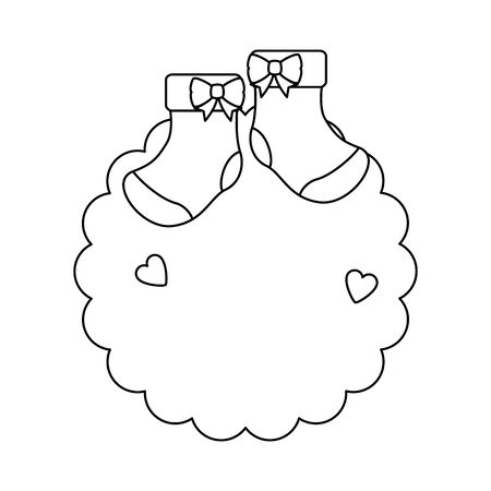 lace with baby socks clothes vector illustration design