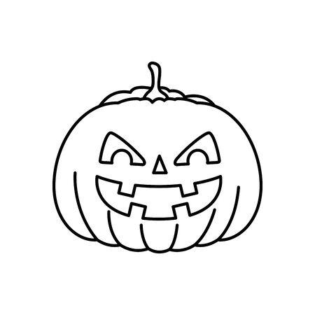 halloween pumpkin traditional isolated icon vector illustration design Zdjęcie Seryjne - 134902733