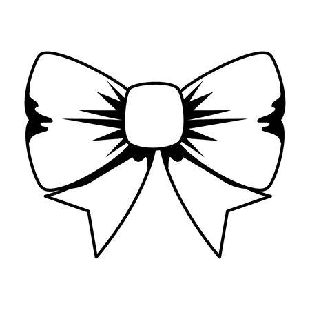 bowtie ribbon decorative isolated icon vector illustration design 向量圖像