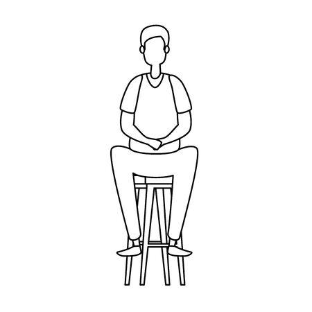 elegant businesswoman seated in bench vector illustration design Stockfoto - 134896302