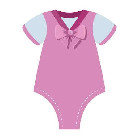 cute baby girl clothes icon vector illustration design Stock Illustratie