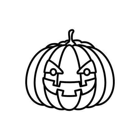 halloween pumpkin traditional isolated icon vector illustration design Zdjęcie Seryjne - 134902828