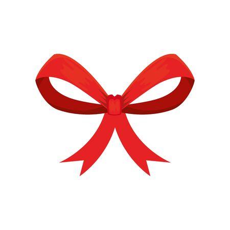 bow ribbon christmas decorative isolated icon vector illustration design