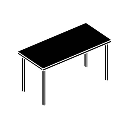 silhouette of table rectangle furniture isolated icon vector illustration design