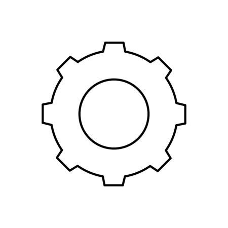 Gear icon design, Cog circle wheel machine part technology industry and technical theme Vector illustration Ilustração