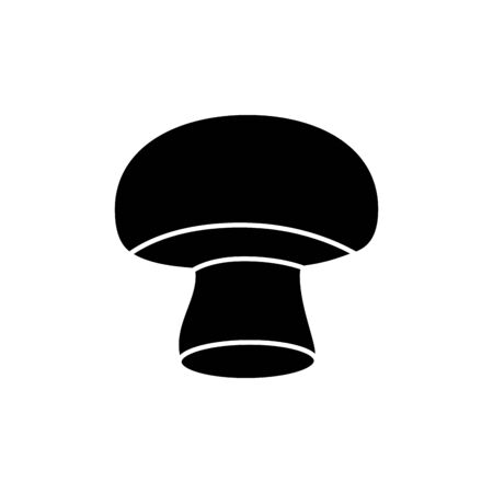 silhouette of mushroom fresh vegetable isolated icon vector illustration design
