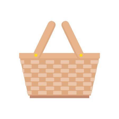 basket wicker picnic isolated icon vector illustration design Ilustracja