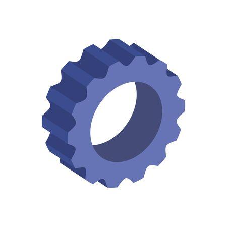 gear pinion machine isolated icon vector illustration design