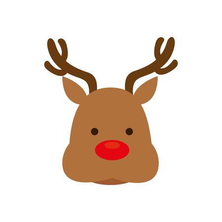 face of reindeer animal isolated icon vector illustration design