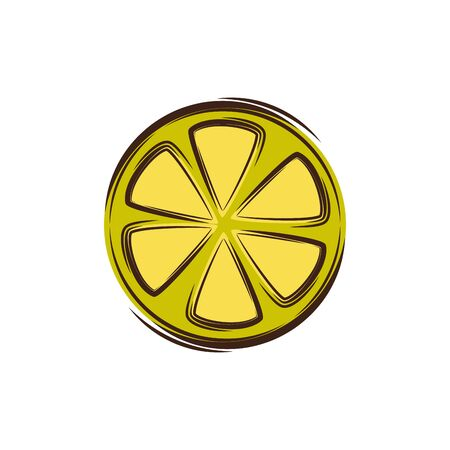 slice lemon fresh fruit isolated icon vector illustration design