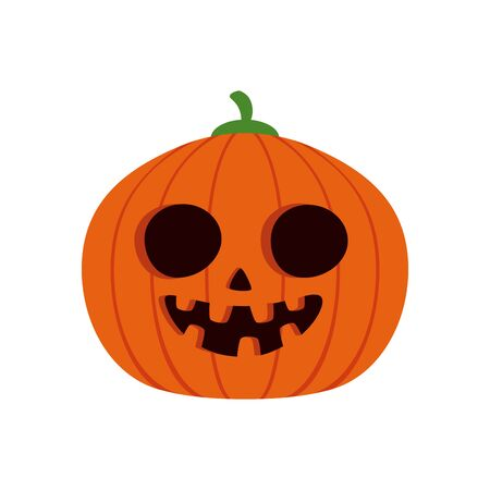 halloween pumpkin traditional isolated icon vector illustration design Imagens - 135303202