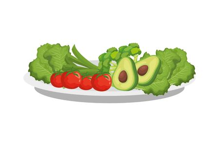 fresh and healthy vegetable isolated icon vector illustration design