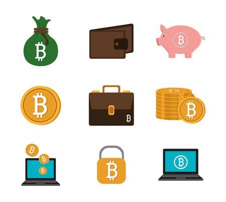 bitcoin vector illustration design vector illustration design