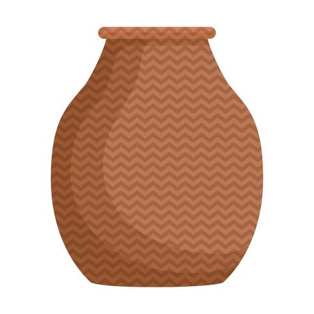 jar made in straw ethnic icon vector illustration design