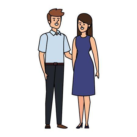 business couple avatars characters vector illustration design Stock Illustratie