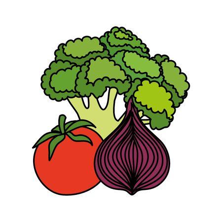 fresh vegetables nature icons vector illustration design Illusztráció