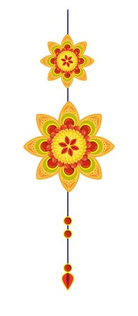 decorative mandala hanging ethnic boho style vector illustration design