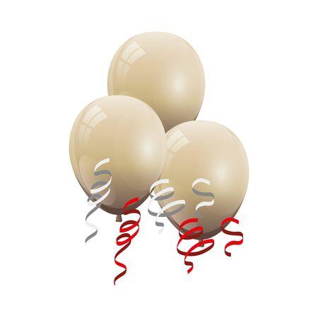 balloon helium white isolated icon vector illustration design