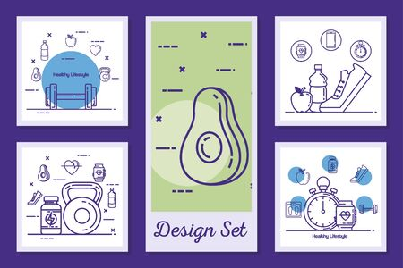designs set of lifestyle healthy and icons vector illustration design Stockfoto - 135494271