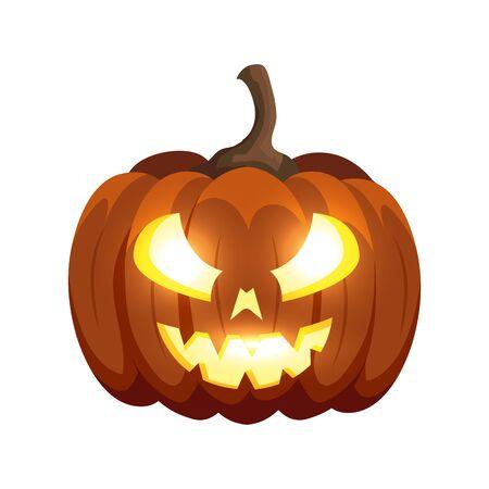 halloween pumpkin traditional isolated icon vector illustration design