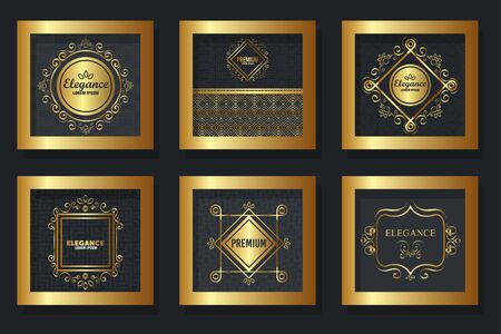 bundle of victorian elegance frames vector illustration design Фото со стока - 135512147