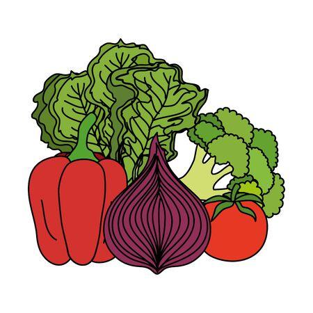 fresh vegetables nature icons vector illustration design Ilustração