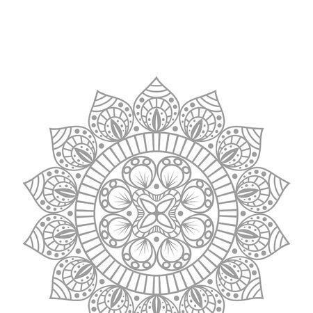 flower mandala ethnicity decorative icon vector illustration design Ilustração