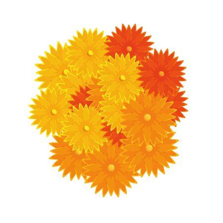 ramadan kareem flowers decorative icons vector illustration design