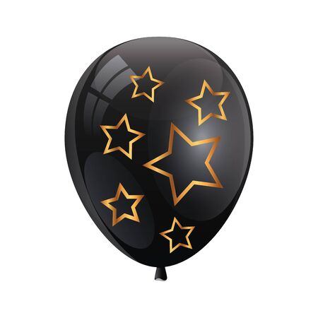 balloon helium with stars isolated icon vector illustration design