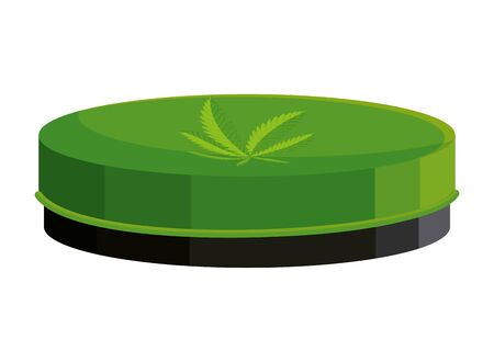 cannabis oinment natural product icon vector illustration design 向量圖像