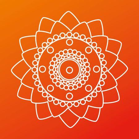 poster of raksha bandhan flowers decoration to hindu event, vector illustration