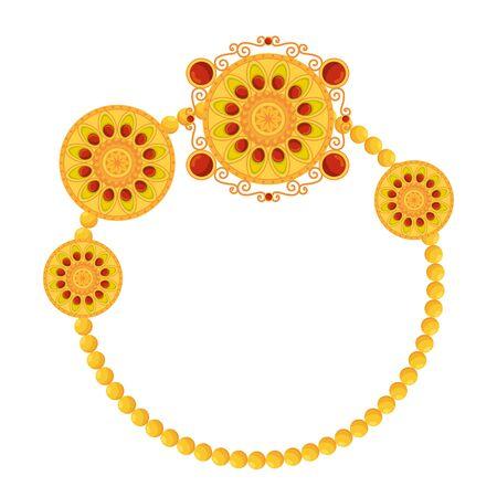 decorative set of mandalas circular frame boho vector illustration design