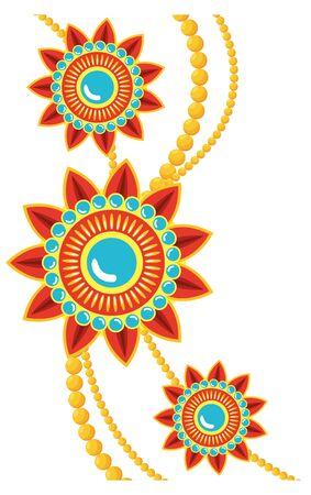 decorative mandalas ethnic boho style with cords vector illustration design Vector Illustratie