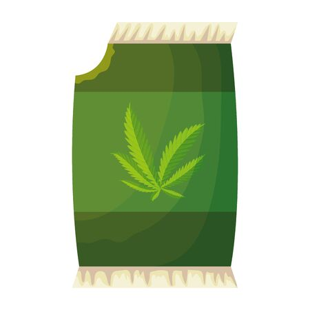 cannabis seeds bag packing icon vector illustration design