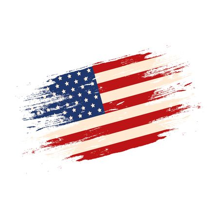 united states flag isolated icon vector illustration design