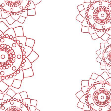 decorative set of mandalas ethnic boho style frame vector illustration design Vector Illustratie