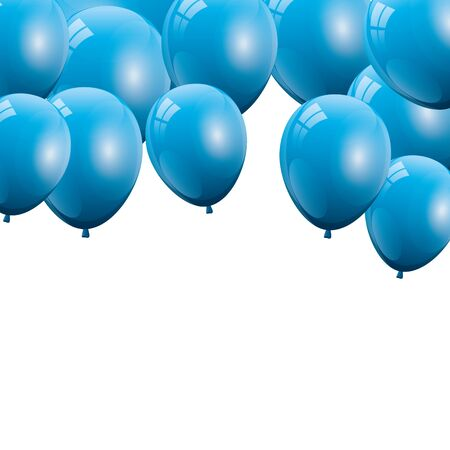 balloon helium blue isolated icon vector illustration design