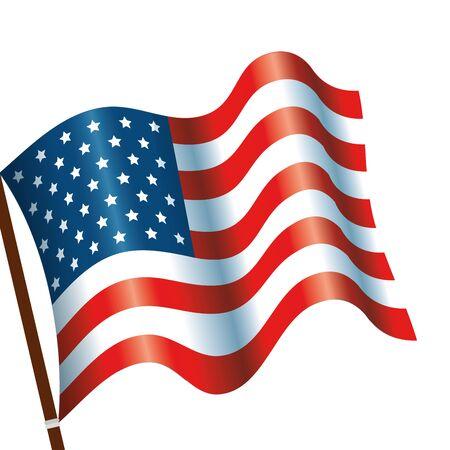 Drapeau des États-Unis icône isolé conception d'illustration vectorielle