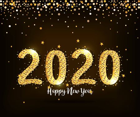 poster of happy new year 2020 vector illustration design Illusztráció