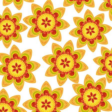 decorative set of mandalas ethnic boho style pattern vector illustration design Vector Illustratie