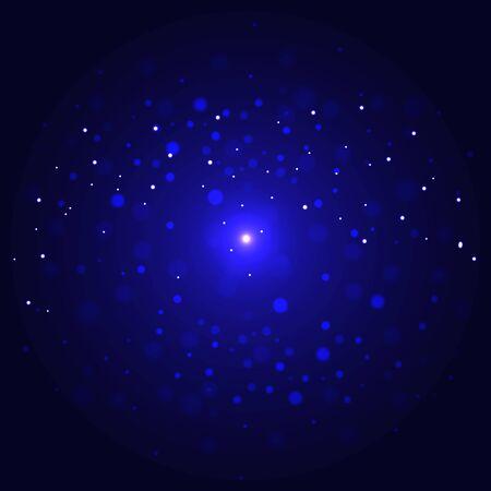 spazio con le stelle luci scena illustrazione vettoriale design