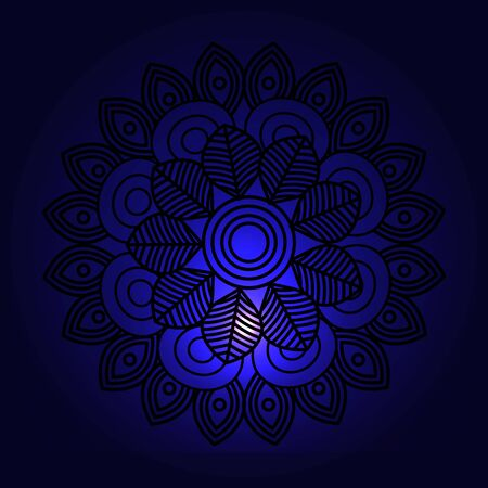 mandala decoration with space lights vector illustration design 向量圖像