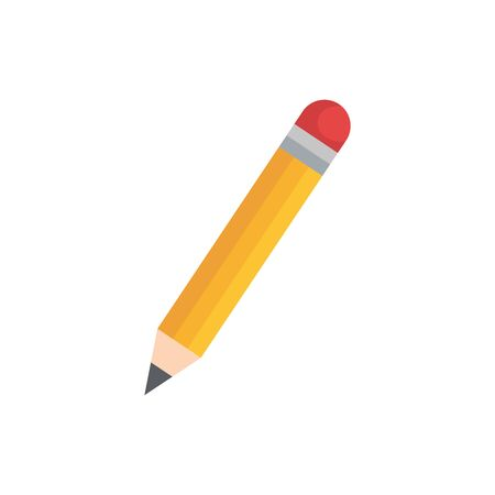 Pencil design, Tool write office object instrument equipment and draw theme Vector illustration