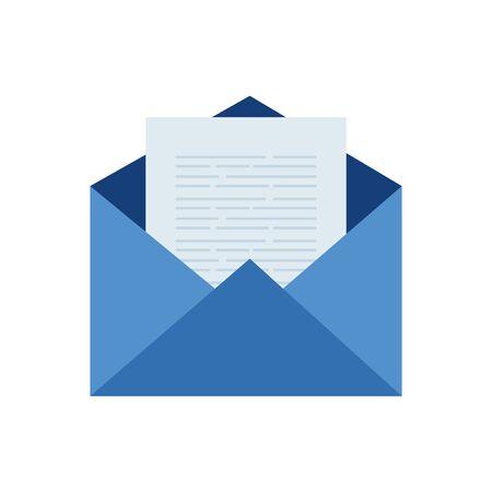 Diseño de icono de sobre, tarjeta de comunicación de marketing de carta de mensaje de correo electrónico y tema de documento Ilustración vectorial