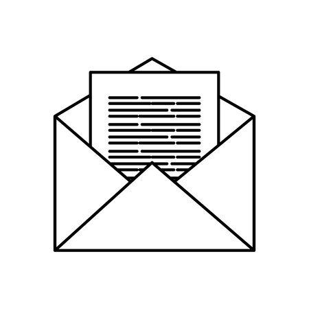 Conception d'icône d'enveloppe, courrier électronique, lettre de message, carte de communication marketing et thème du document, illustration vectorielle