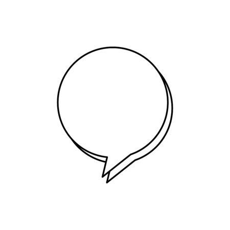 Diseño de ilustración de vector de icono de estilo de línea de burbuja de discurso